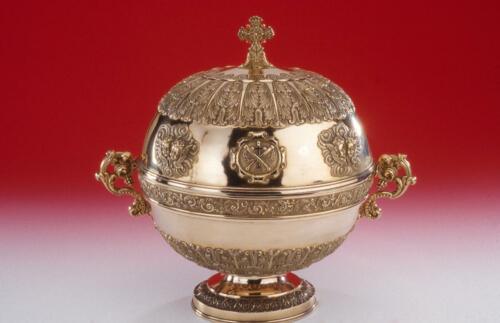 Reliquaire de crâne de saint Léonard