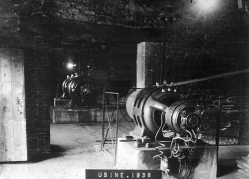 Usine électrique de Beaufort, intérieur (1938)