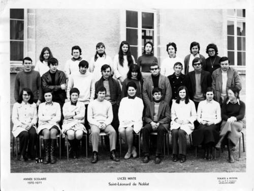 Lycée mixte - année scolaire 1970-1971