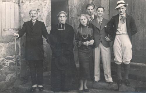 Fête école supérieure - 6 élèves (1937)