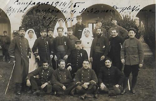 Convalescents à l'hôpital (1914-1915)
