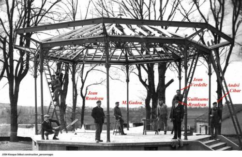 Kiosque - Début de la construction (1934)
