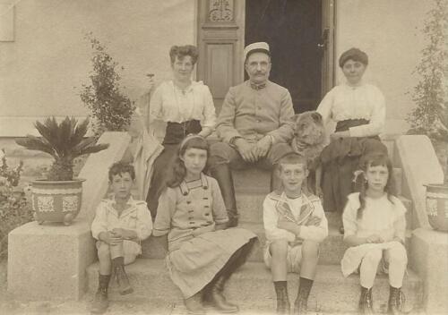 Famille Gay-Lussac à Bassoleil - Léonie Beaumelou - enfants (1900)