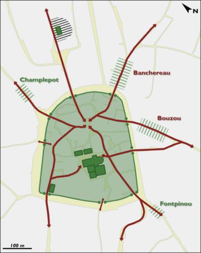 Développement des faubourgs à partir du XIIIe siècle