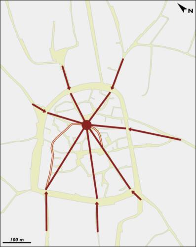 Accès à l'actuelle place de la République: les détours des rues de la Fraternité et G. Périn