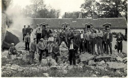 Démolition de la cheminée (1937)