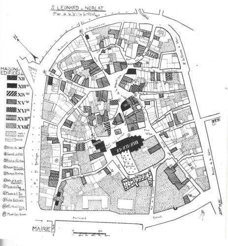 Plan de la ville en 1824