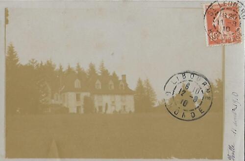 Maison de maître Vialle - 11 août 1910