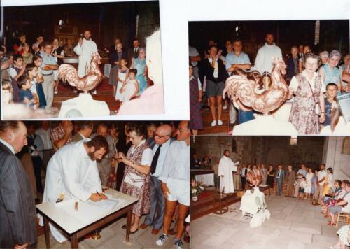 Bénédiction du nouveau coq - juillet 1984