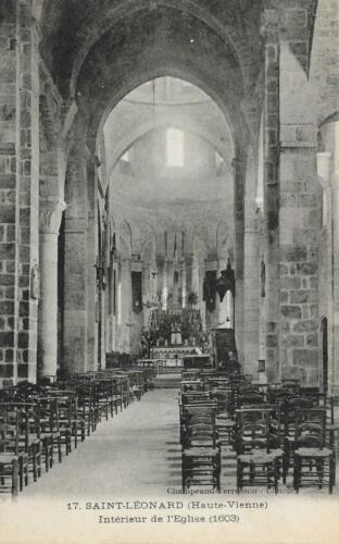 Intérieur de la collégiale (1908)