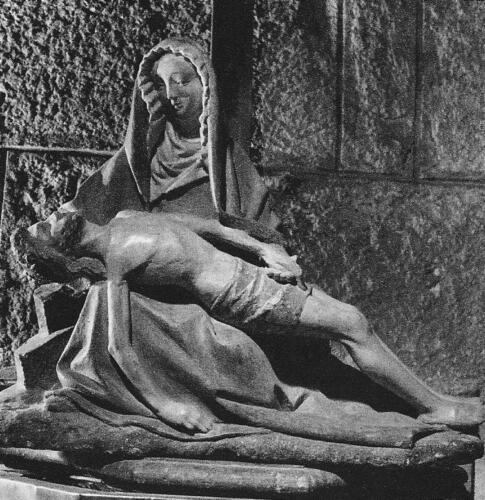 Pieta polychrome